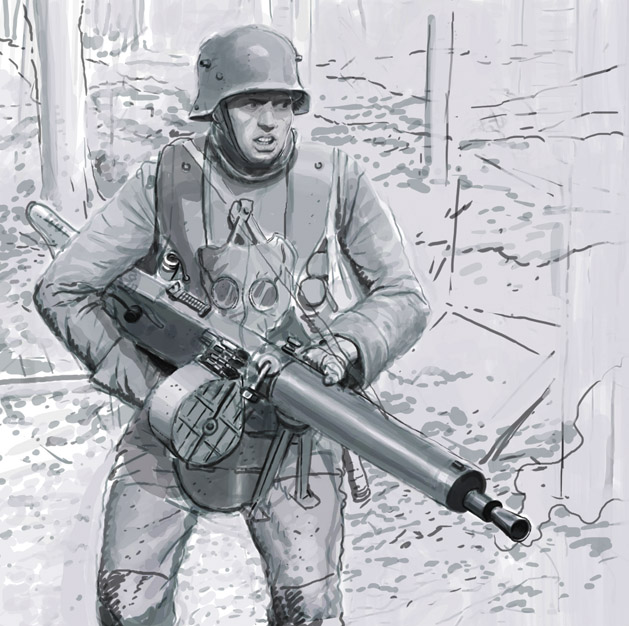 german machine gunner ww1 by JesusFood
