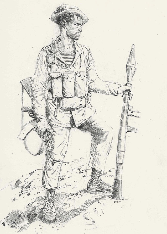 Russian soldier in Afghanistan by JesusFood