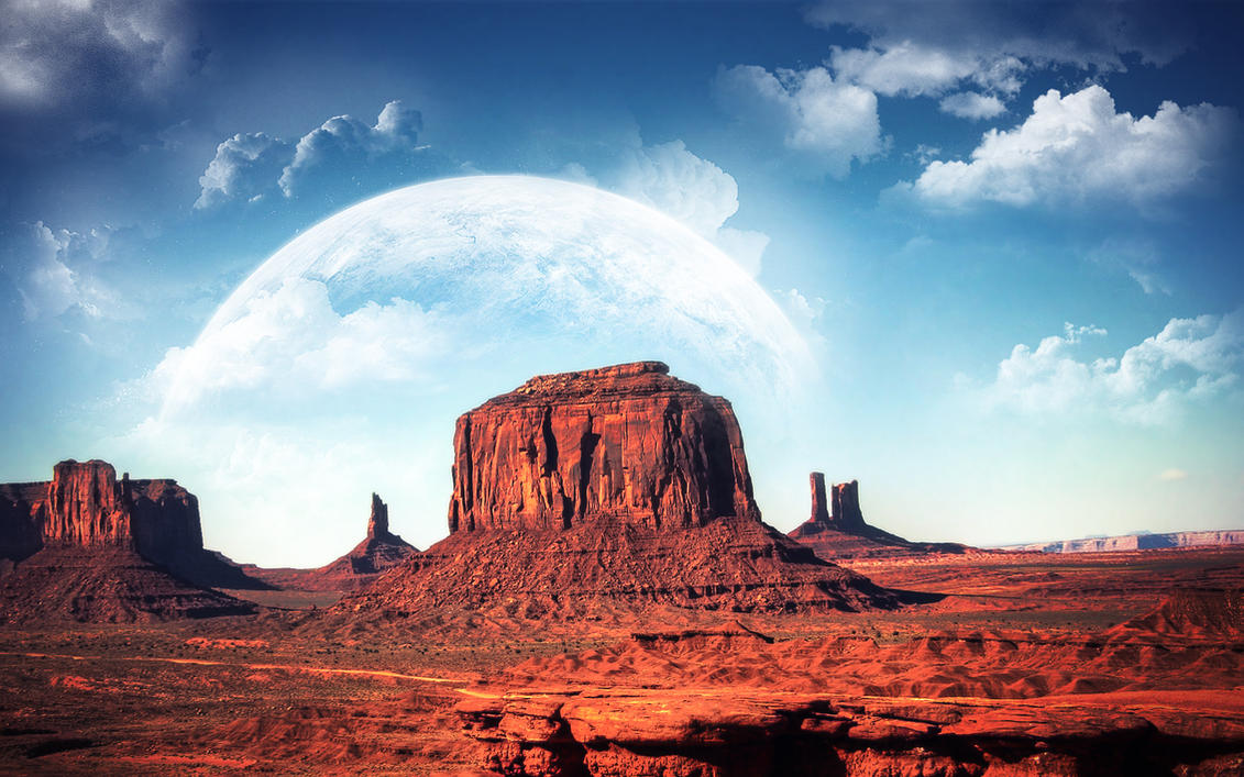 Monument Valley Wallpaper By Photomontage