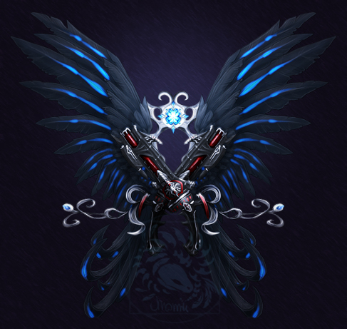 Commission: (Aion) Black Rock Shooter logo by AverrisVis