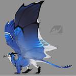 Dragon design: blue jay