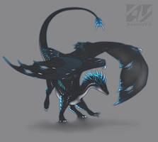 Dragon design: electric blue by AverrisVis