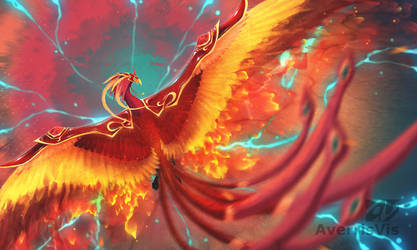 Perna the Fire Phoenix by AverrisVis
