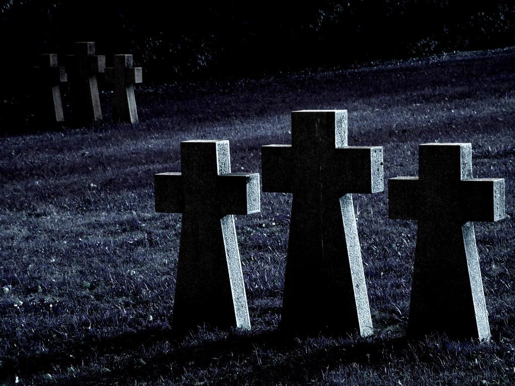 Crosses, Naci Graveyard by Baton101