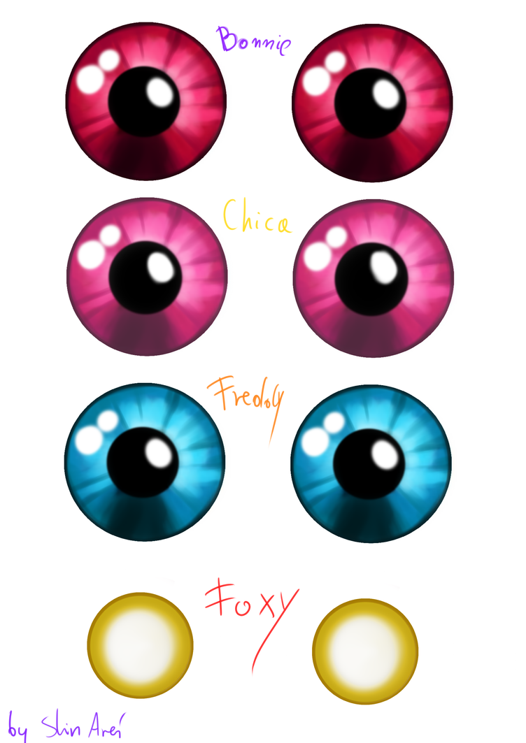 Cat Anime Golden Pupil Eyes Template