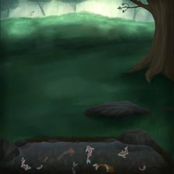Free Koi Pond Background
