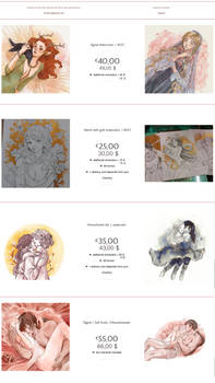 Commissions Info and prices
