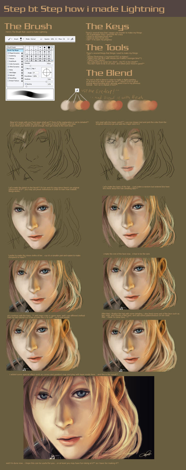 Step By step: Lightning by zamboze