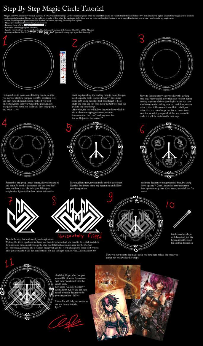 Magic circle tutorial by zamboze on deviantart magic circle tutorial by zamboze buycottarizona Choice Image