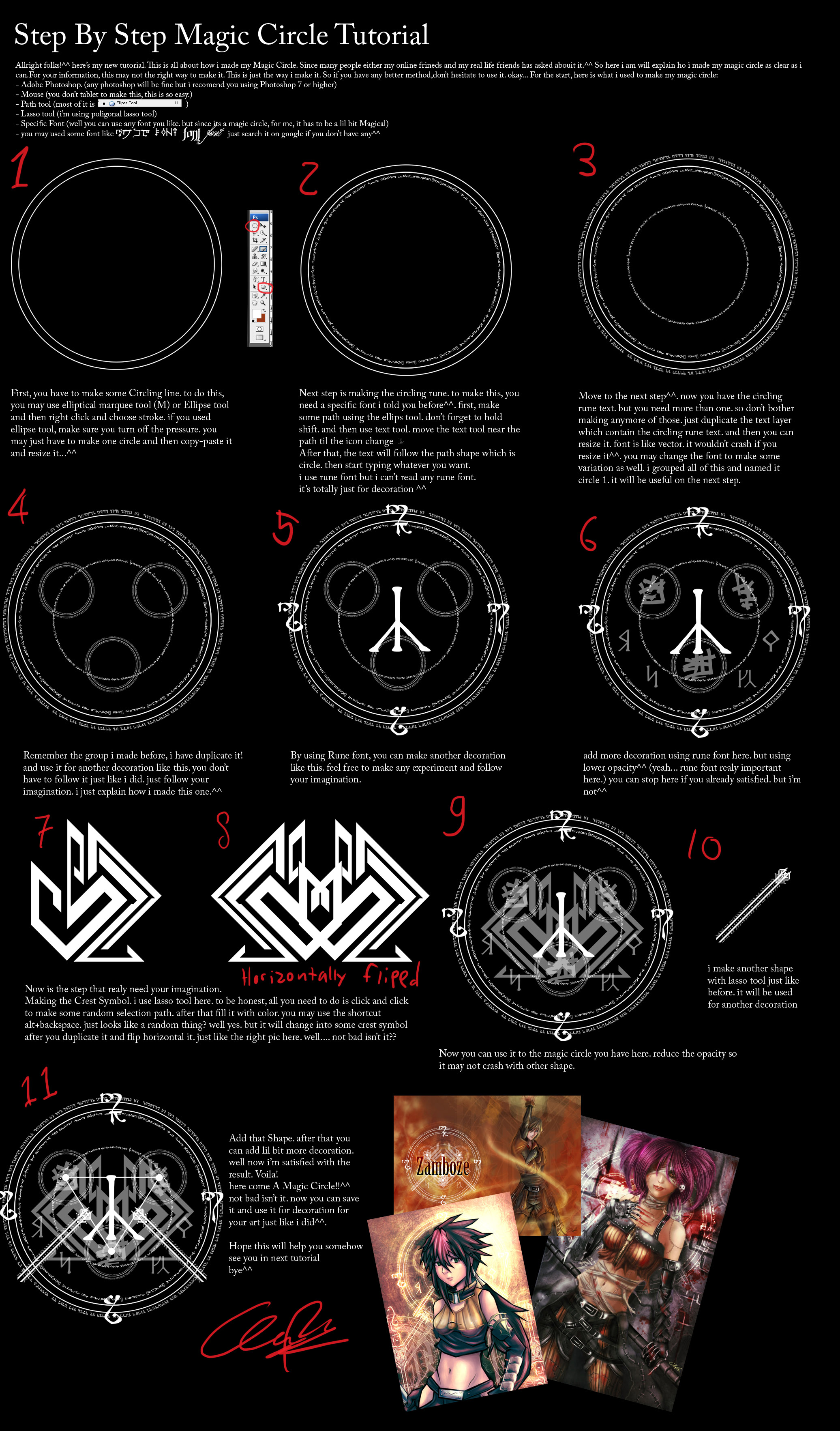 how to make a magic circle for beginners