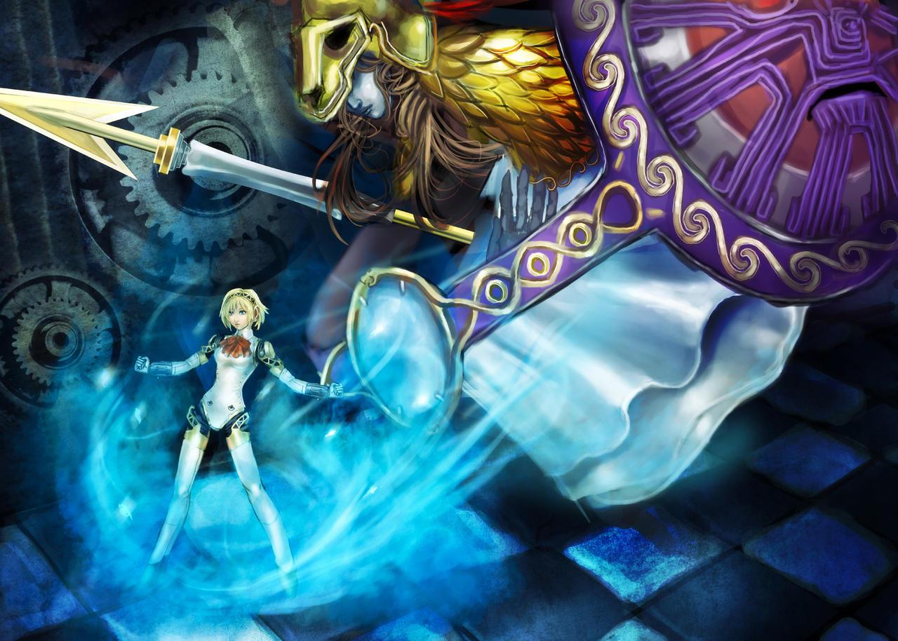 Aigis x Athena by zamboze