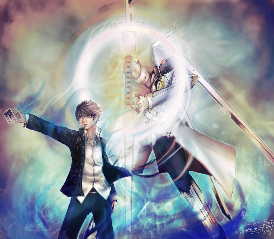 Persona 4  Izanagi Ookami by zambozeIzanagi No Okami Persona 4