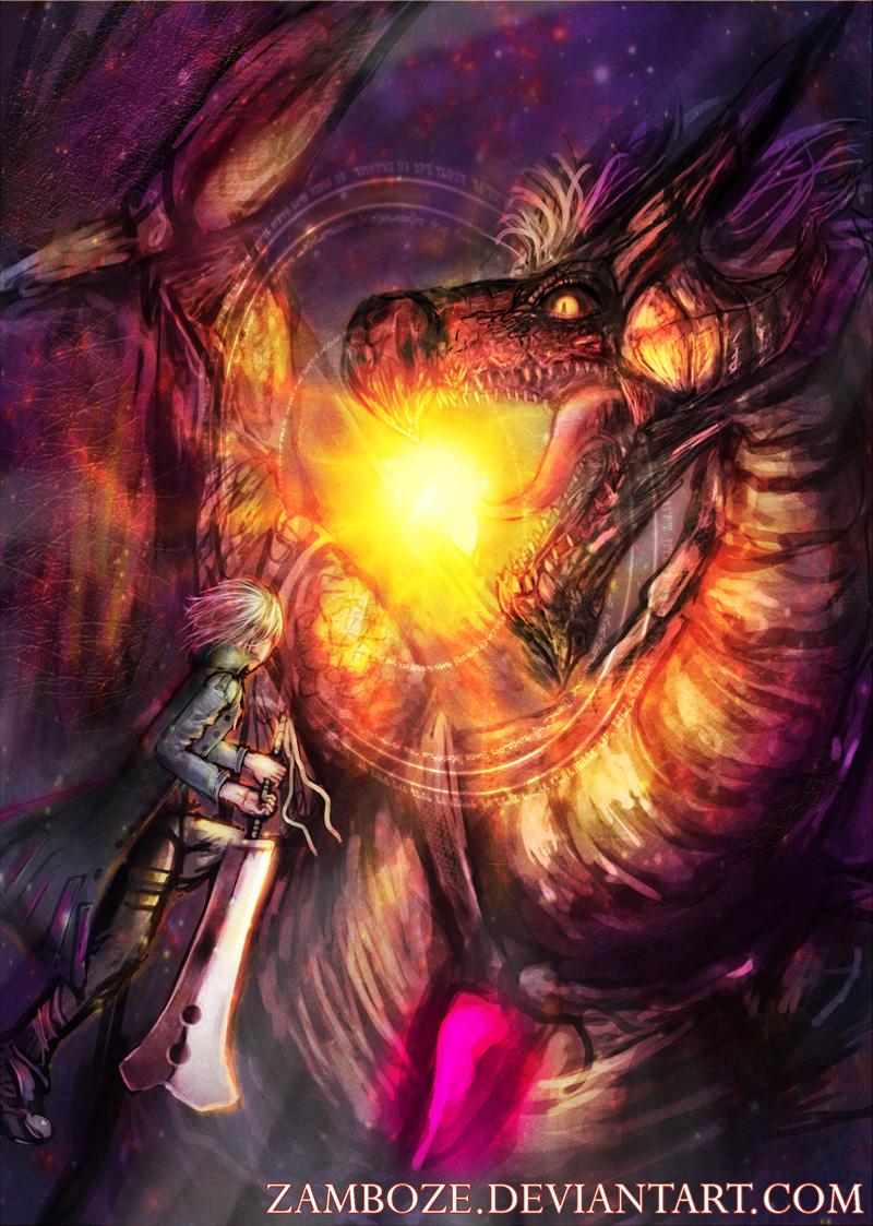 Versus Dragon by zamboze