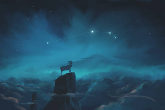 Aries Constellation Painting (Zodiac Set)