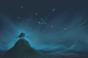 Taurus Constellation Painting (Zodiac Set)