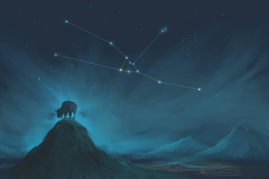 Taurus Constellation Painting (Zodiac Set)