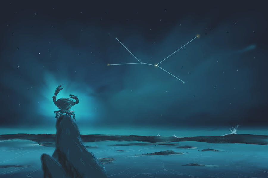 Cancer Constellation Painting Zodiac Set By ShootingStarLogBook On