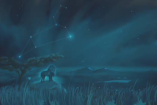 Leo Constellation Painting (Zodiac Set)