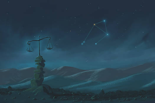 Libra Constellation Painting (Zodiac Set)