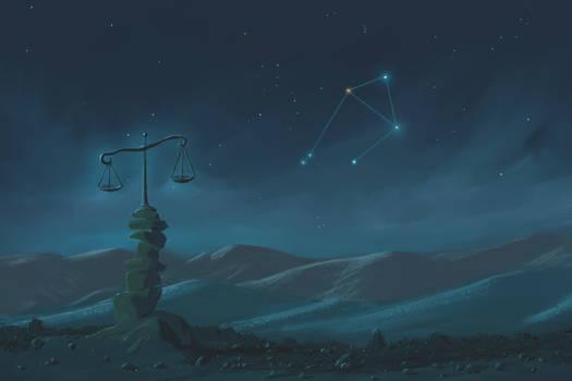 Libra Constellation Painting (Zodiac Set)