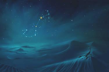 Scorpius Constellation Painting (Zodiac Set) by ShootingStarLogBook