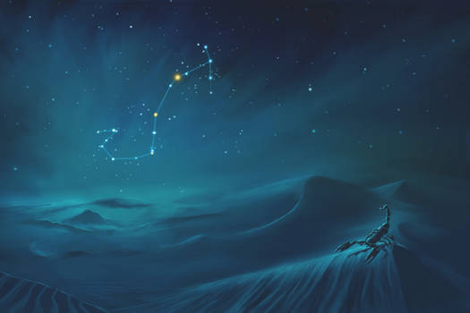 Scorpius Constellation Painting (Zodiac Set)