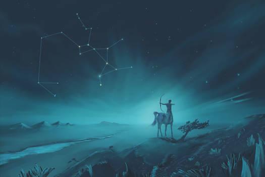 Sagittarius Constellation Painting (Zodiac Set)