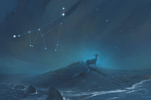 Capricorn Constellation Painting (Zodiac Set)