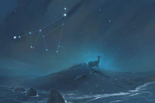 Capricorn Constellation Painting (Zodiac Set)