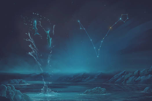 Pisces Constellation Painting (Zodiac Set)