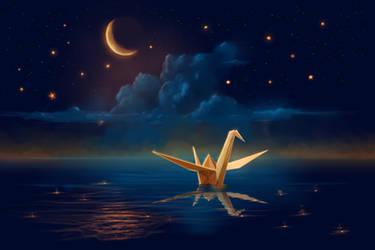 Night Crane by ShootingStarLogBook