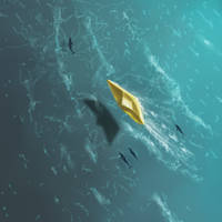 Paper Boat Aerial View