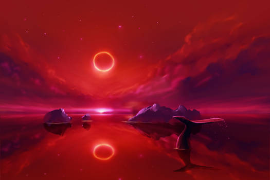 Whale and A Ring Eclipse
