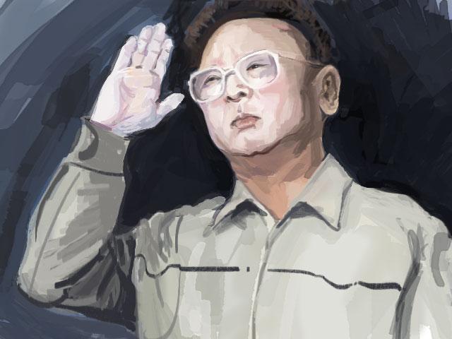 Kim Jiong-il's Portrait by foxzinner