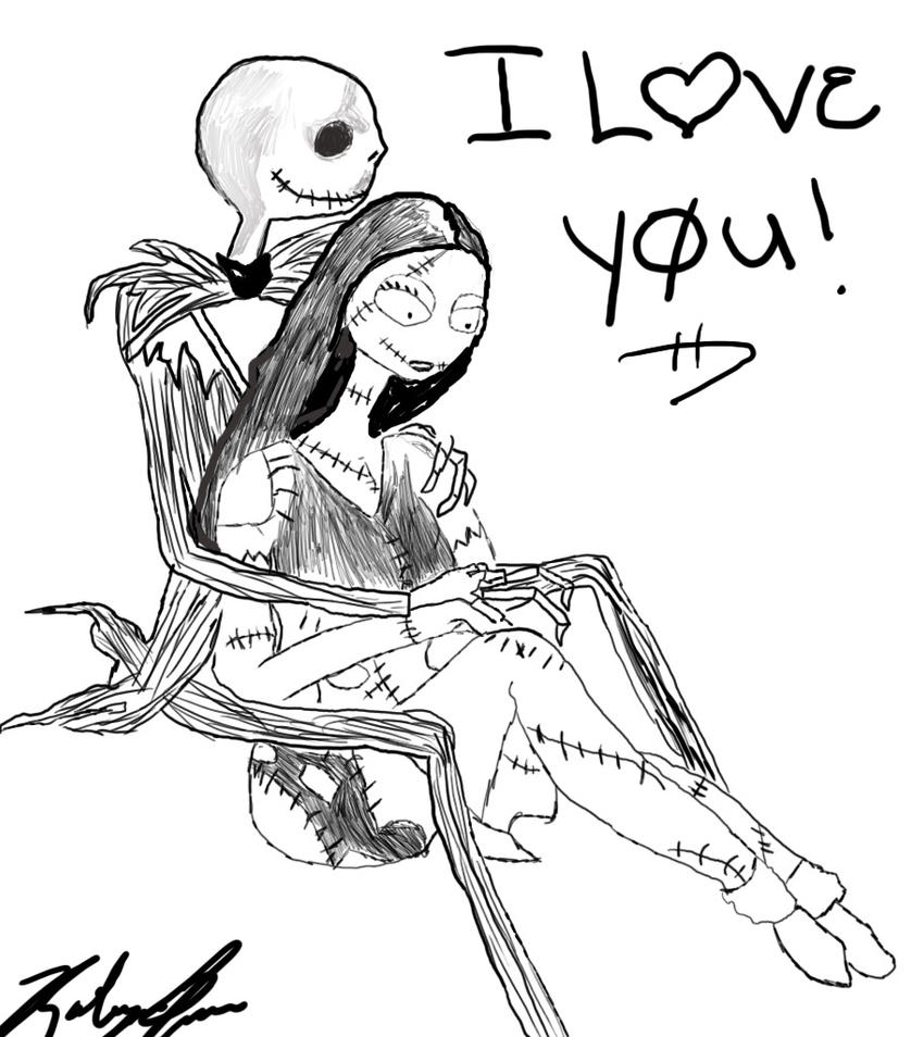 The Nightmare Before Christmas  Jack and Sally Coloring