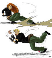 Kim Possible Sketches by ursyoctopus