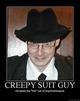 Creepy Guy Motivational Poster by DragonOfDestiny