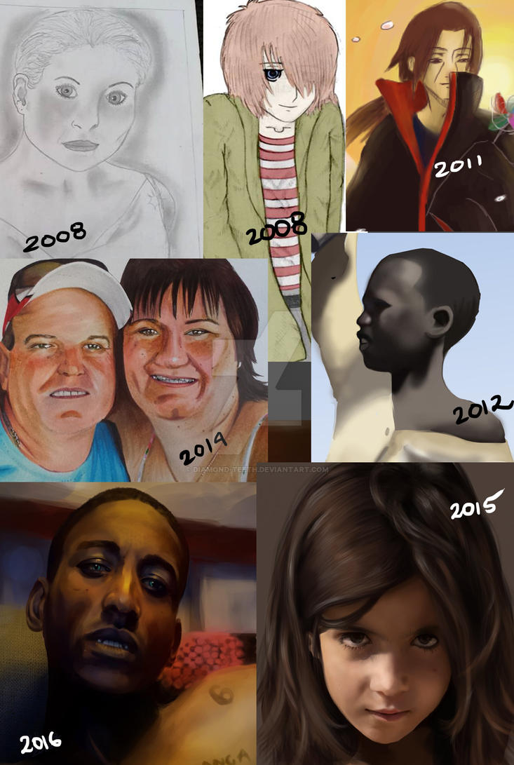Art Progress 2008 - 2016 by Diamond-Teeth