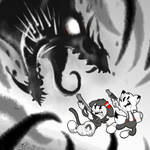 fighting a Ink demon