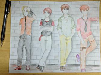 High school boys by sakuramelodysong