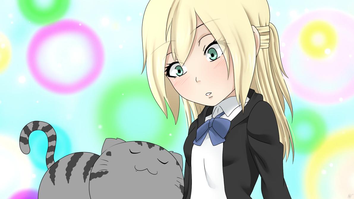 Shingeki! Kyojin Chuugakkou -  So cute kitten... by xNanys