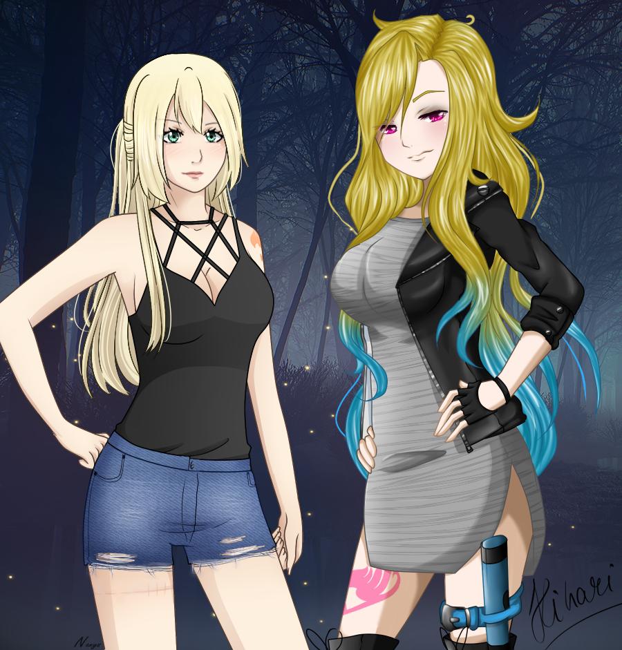 Fairy Tail Collab - Nina and Hikari by xNanys