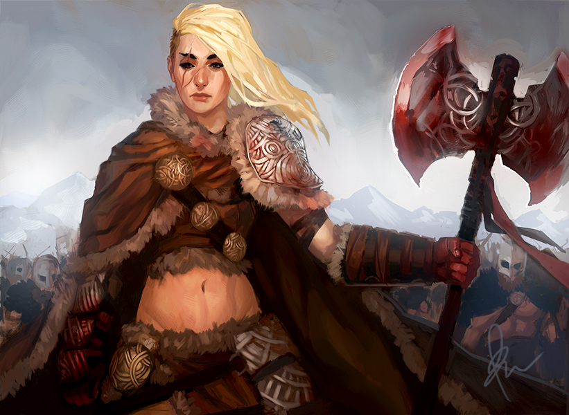 Snow Barbarian Leader by TheBoyofCheese on DeviantArt