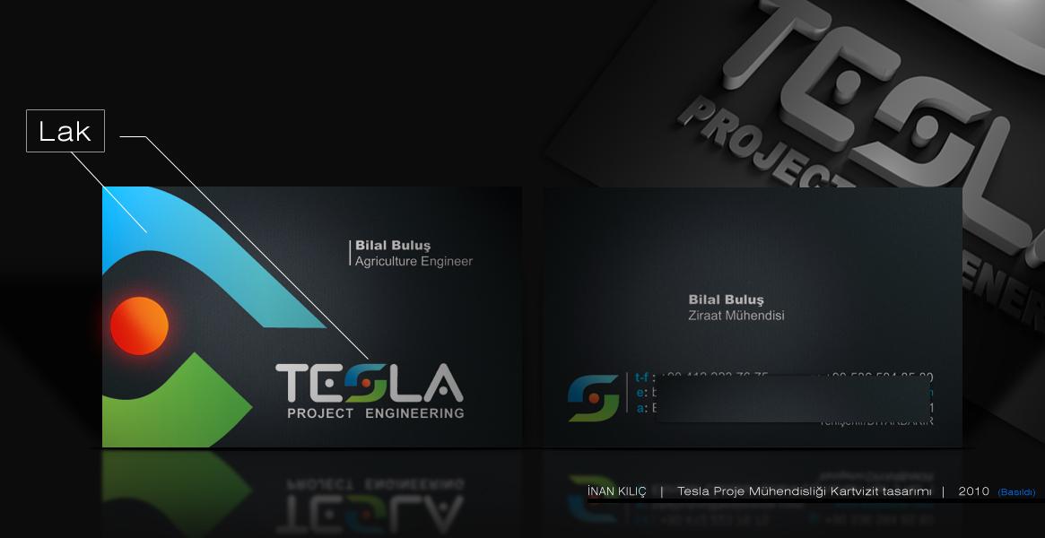 Tesla Proje Mühendisliği kartvizit