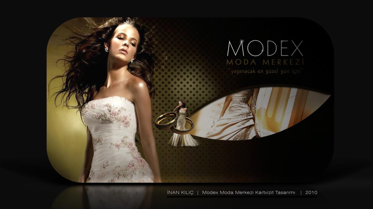 Modex Moda Merkezi kartvizit tasarımı