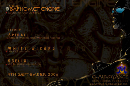 Baphomet engine invite, Mumbai