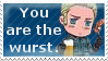 Stamp - You are the wurst! by ChaosDisclosed