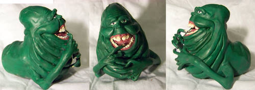 Finished Sculpey Slimer by ShinAzure