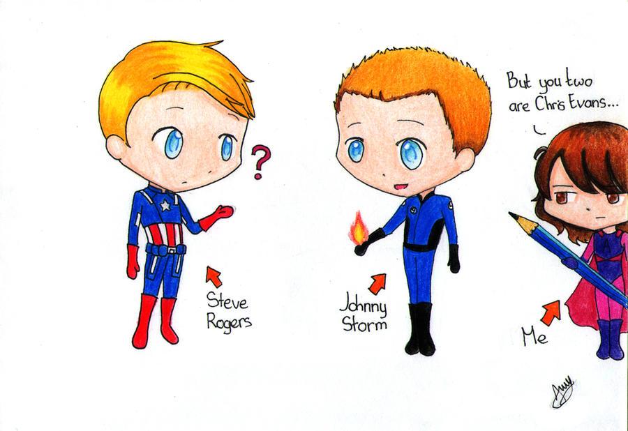 Captain America And Johnny Storm... By Sovarove On DeviantArt