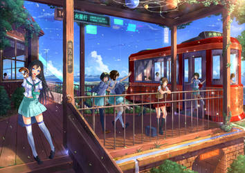 Galaxy rural railway by PenName-Kazeno